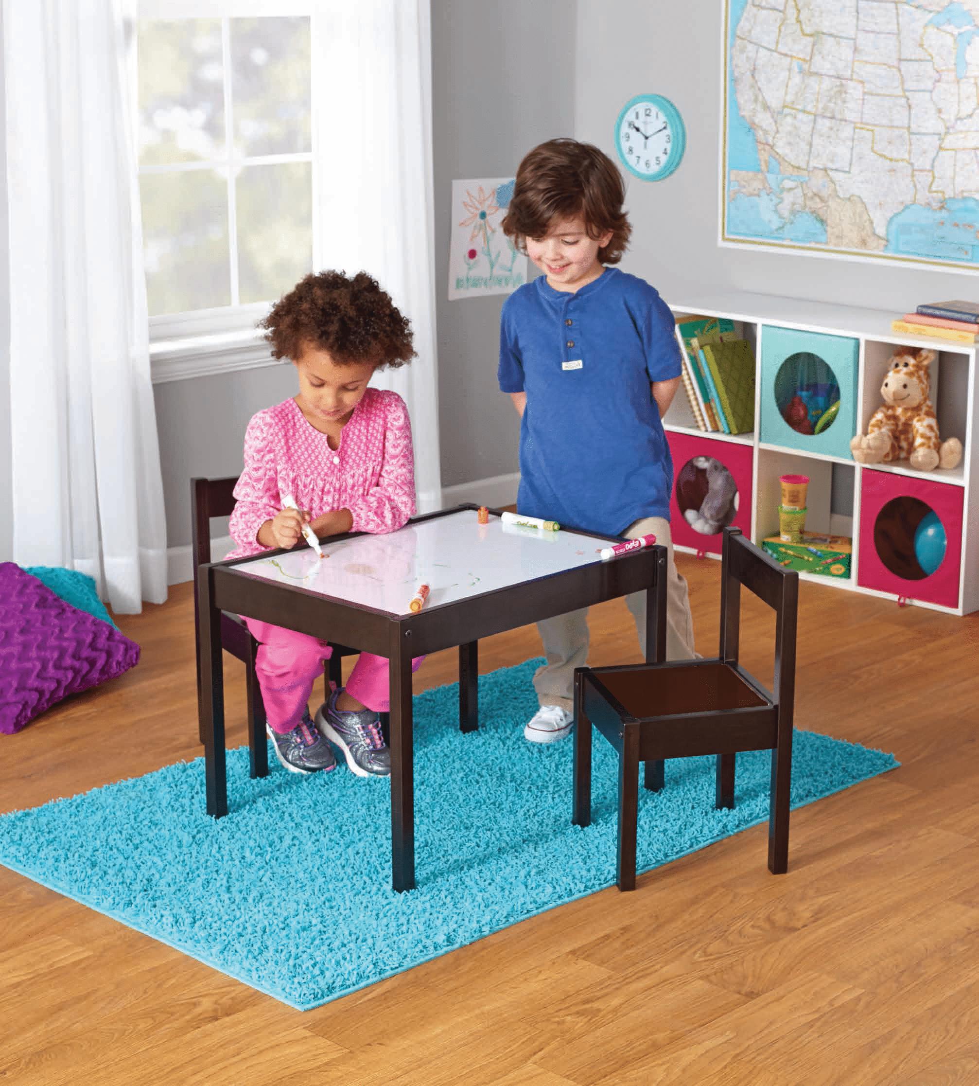 Your Zone 3 Piece Dry Erase Activity Table Play Set Walmart Com Walmart Com
