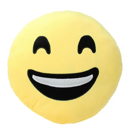 Smiling Juju Emoji Kissing Heart Winking Cushion Pillow Stuffed Plush Toy Doll Seat Pad Home D?cor](Emoji Wink)