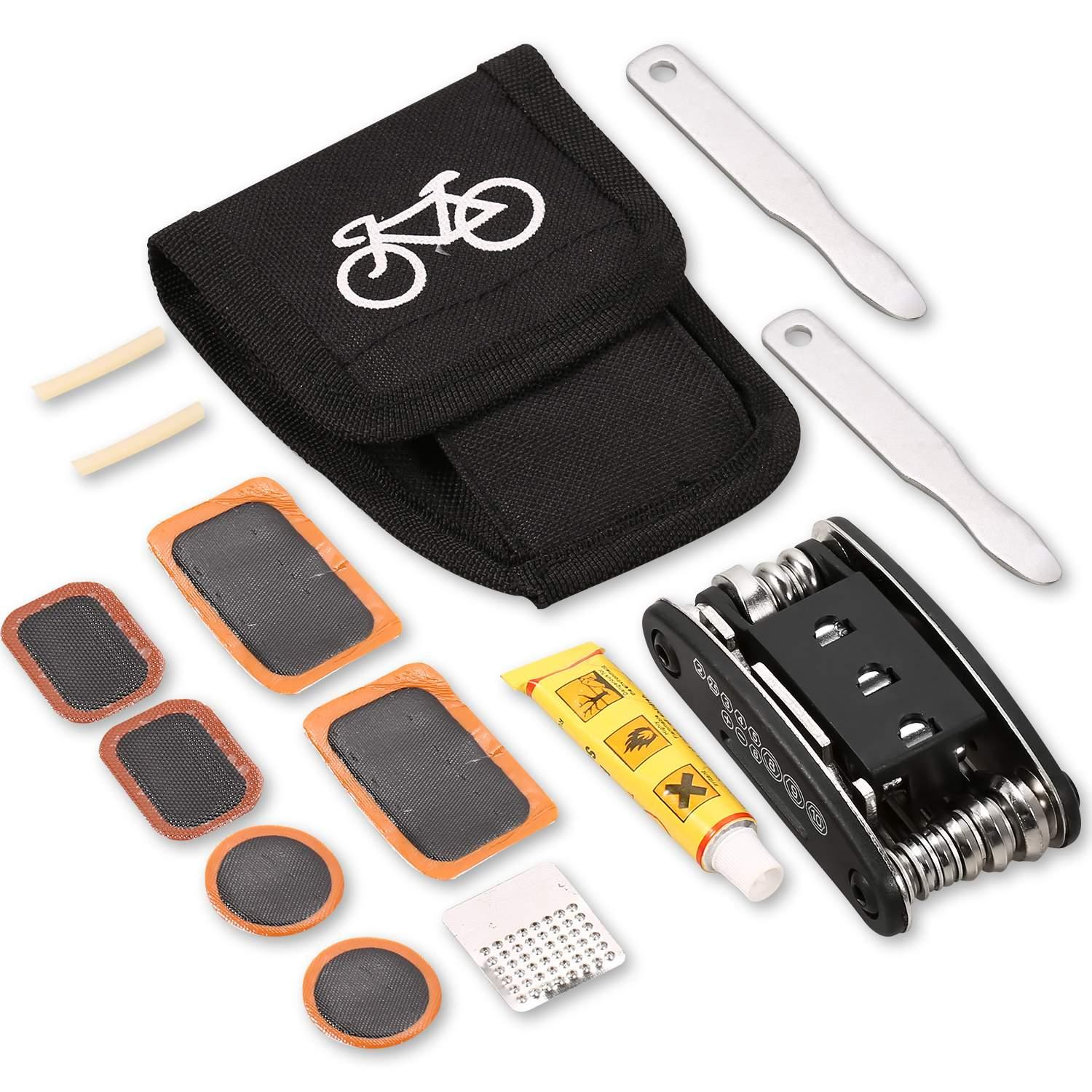 Clearance! Bicycle Combination Repair Kit Package Multifunction Mountain Bike Repair Tire Inflator Accessories STDTE