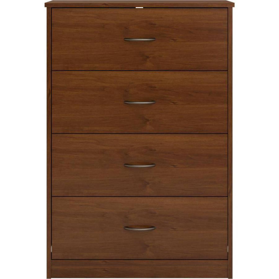 Pecho de 4 Cajones Cómoda Dormitorio Muebles de madera ...