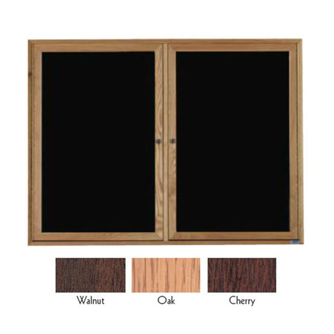Aarco Products ODC4872 Enclosed 2-Door Enclosed Changeable Letter Board Oak Frame