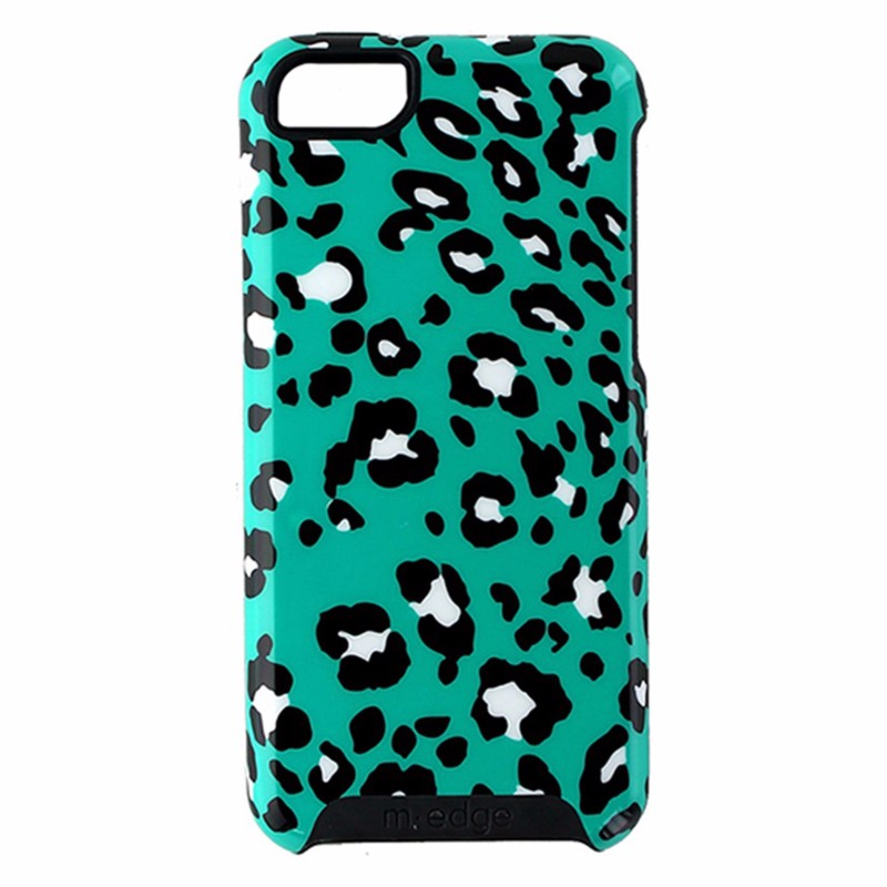 M-Edge Echo Series Hybrid Case for Apple iPhone 5C - Teal / Black Leopard Print
