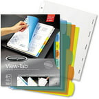 Wilson Jones View-Tab Index Dividers, Round, Letter, Multicolor