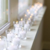 Richland Votive Candles & Eastland Clear Votive Holders White Unscented Set of 72