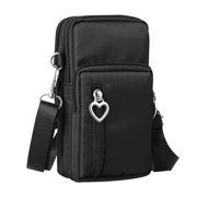 Cell Phone Bag Pouch, TSV Water Resistant Nylon Mini Cross-body Cell Phone Shoulder Strap Wallet Pouch Bag Purse for iPhone XS XR XS Max 8 Plus Samsung S10 S9 S7 Edge LG G7 G6 V40 V30 and More