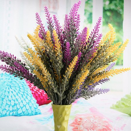 Best Artificial 36cm Lavender Heather Spray Stems Wedding Floral Flower Disp Valentine's Day