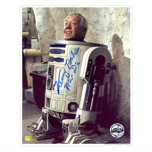 Kenny Baker Autographed Star Wars 8?10 Inside R2-D2 Photo B