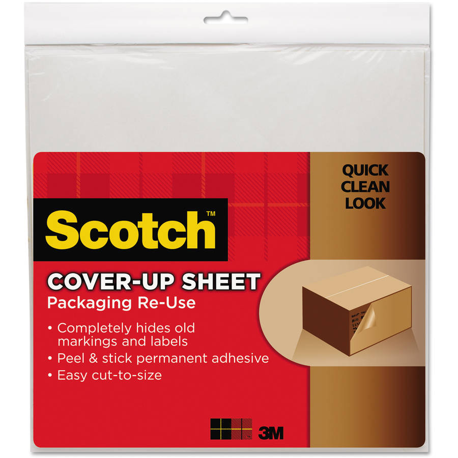 "Scotch 12"" x 12"" Cover-Up Sheets and Rolls, White, 6-Pack"