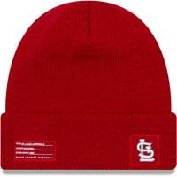 St. Louis Cardinals New Era On-Field Sport Cuffed Knit Hat - Red - OSFA