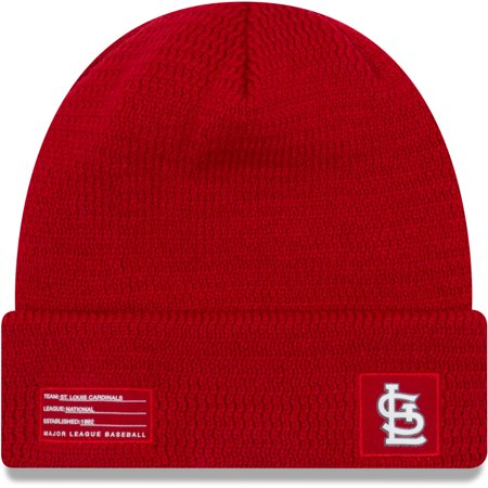 St. Louis Cardinals New Era On-Field Sport Cuffed Knit Hat - Red - - St Louis Cardinal Halloween Costume