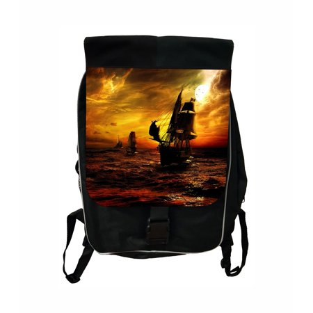 Ship at Sea Large Black School Backpack (Best Way To Ship A Backpack)