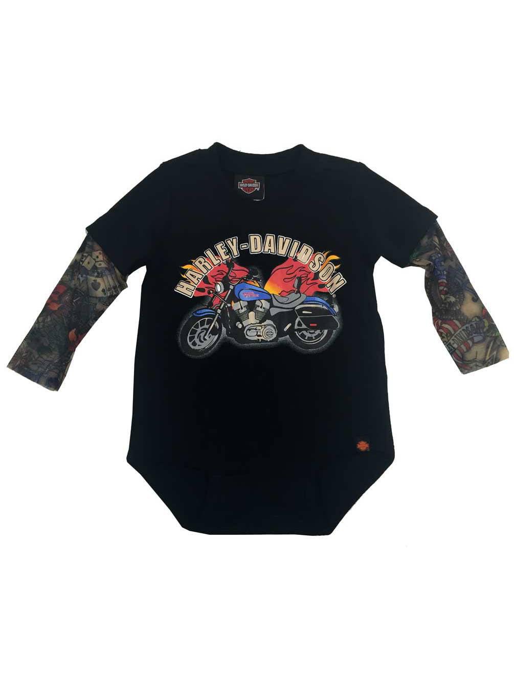 32dab5967 Harley-Davidson - Harley-Davidson Baby Boys' Motorcycle Infant Creeper w/  Tattoo Sleeves 3060641, Harley Davidson - Walmart.com
