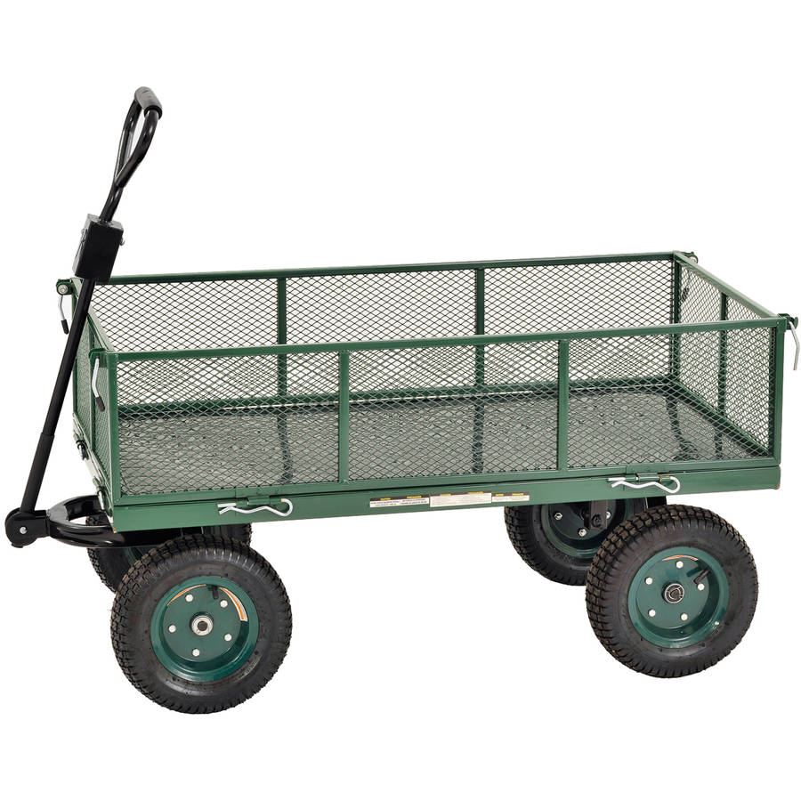 "Sandusky 48""L x 24""W Heavy-Duty Jumbo Crate Wagon, Green"