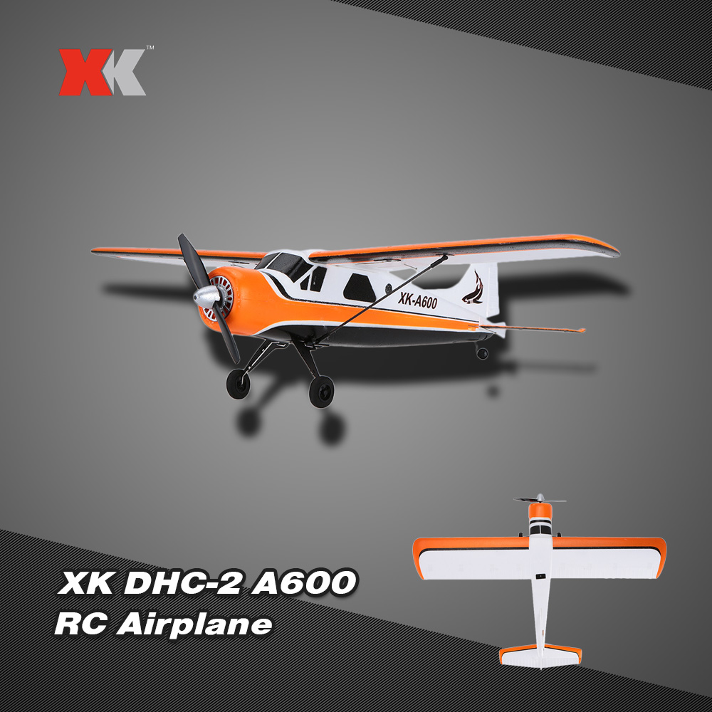 Original XK DHC-2 A600 5CH 2.4G Brushless Motor 3D6G RC Airplane by