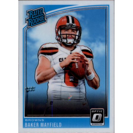 2018 Donruss Optic 153 Baker Mayfield Cleveland Browns Rookie Football Card