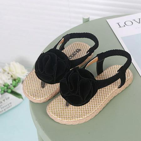 Funcee Summer Toddler Girl Breathable Anti-Slip Flower Flip-flop Sandals Shoes
