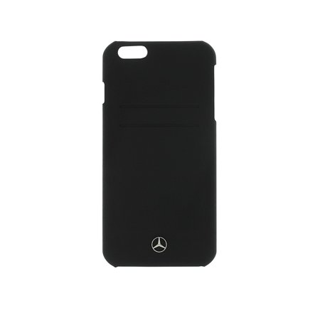Mercedes Pure Line Collection Leather Hard Case for iPhone 6 Plus/6S Plus - Black (Mercedes Iphone6 Case)