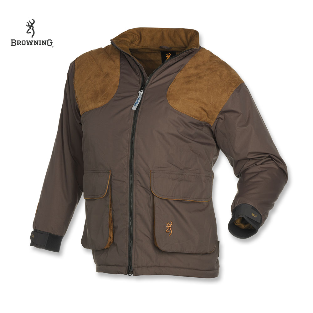 Browning Ballistic Insul. Shooting Jacket (S)- Char./Brown