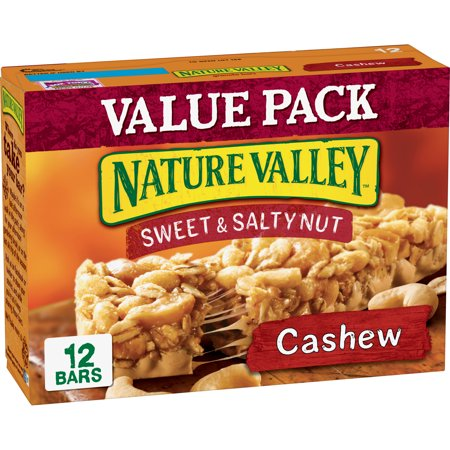 Nature Valley Granola Bars, Sweet & Salty Nut, Cashew, 12 Bars, 1.2 oz (Bar Strawberry Nut)