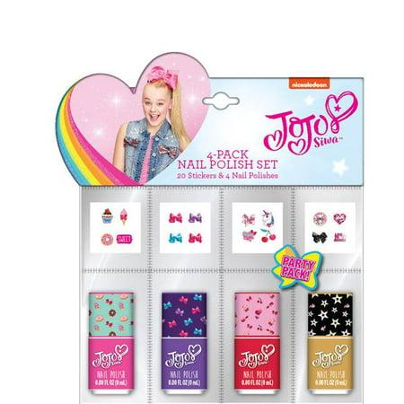 Jojo Siwa Party Favor 4 Pk Nail Sets Walmart Com