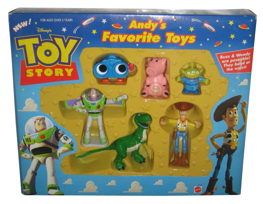 Disney Pixar Toy Story Andy's Favorite Toys Buzz Woody Mattel Figure Set by Mattel