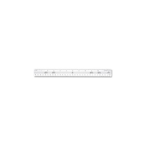 SPARCO PRODUCTS Standard Metric Ruler, 12 Long, Holes for Binders, Clear