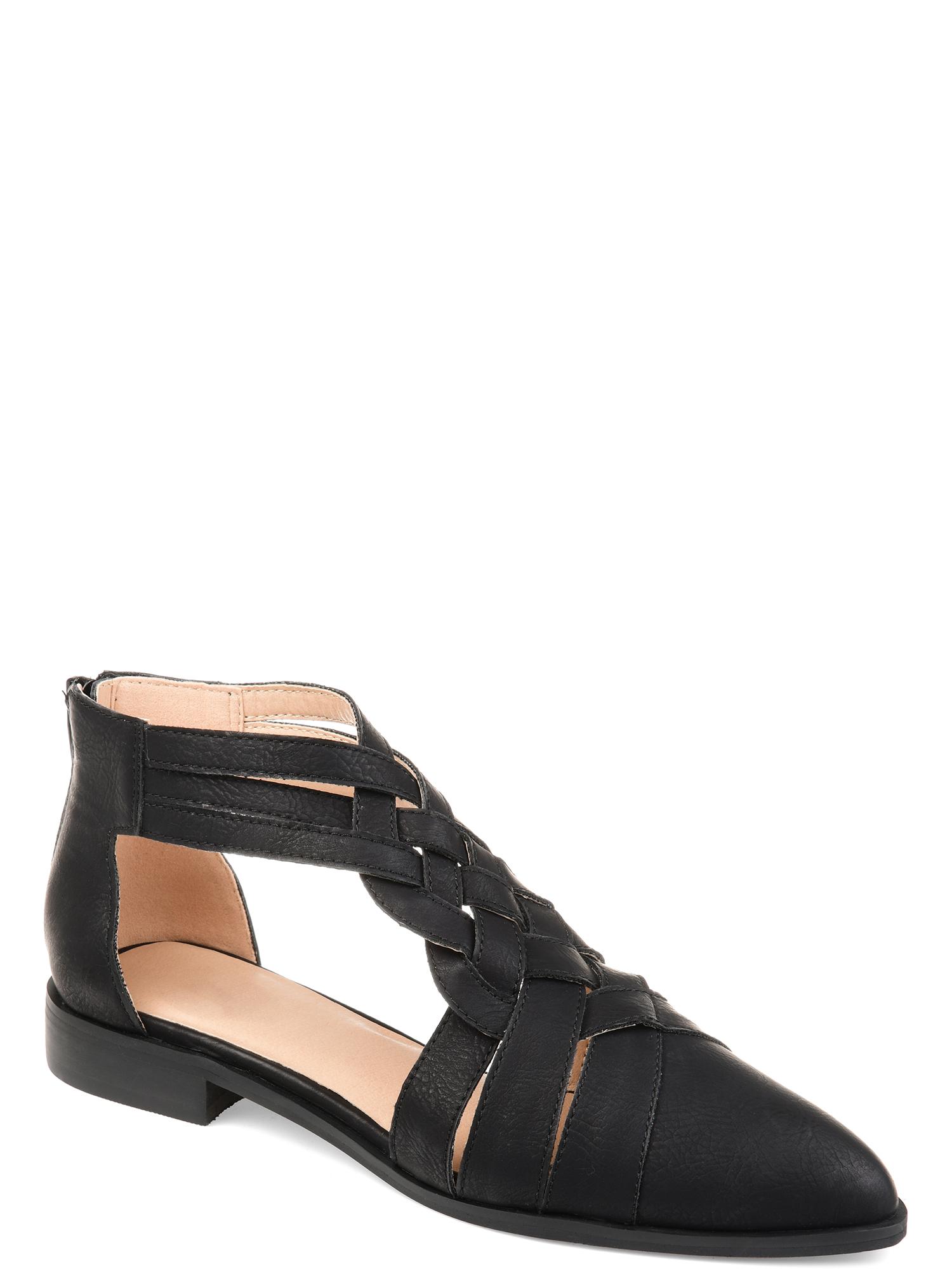 Brinley Co. Women's Woven Detail Flat Shoe