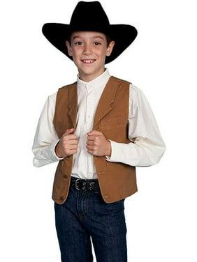 Scully Western Vest Boys Kids 100% Cotton Canvas Button RW041K