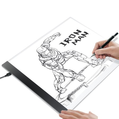 Kohree A4 LED Tracing Light Box Tracer Portable Artists Drawing Board Copyboard USB Power Cable Artcraft Light Pad