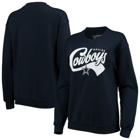 Dallas Cowboys Women's Penelope Pullover Sweatshirt - Navy