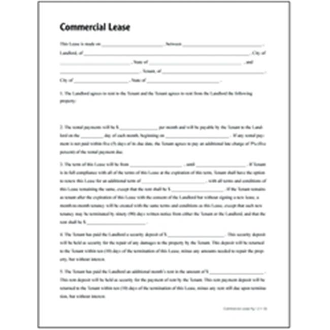 Adams Lf Commercial Lease Form  WalmartCom