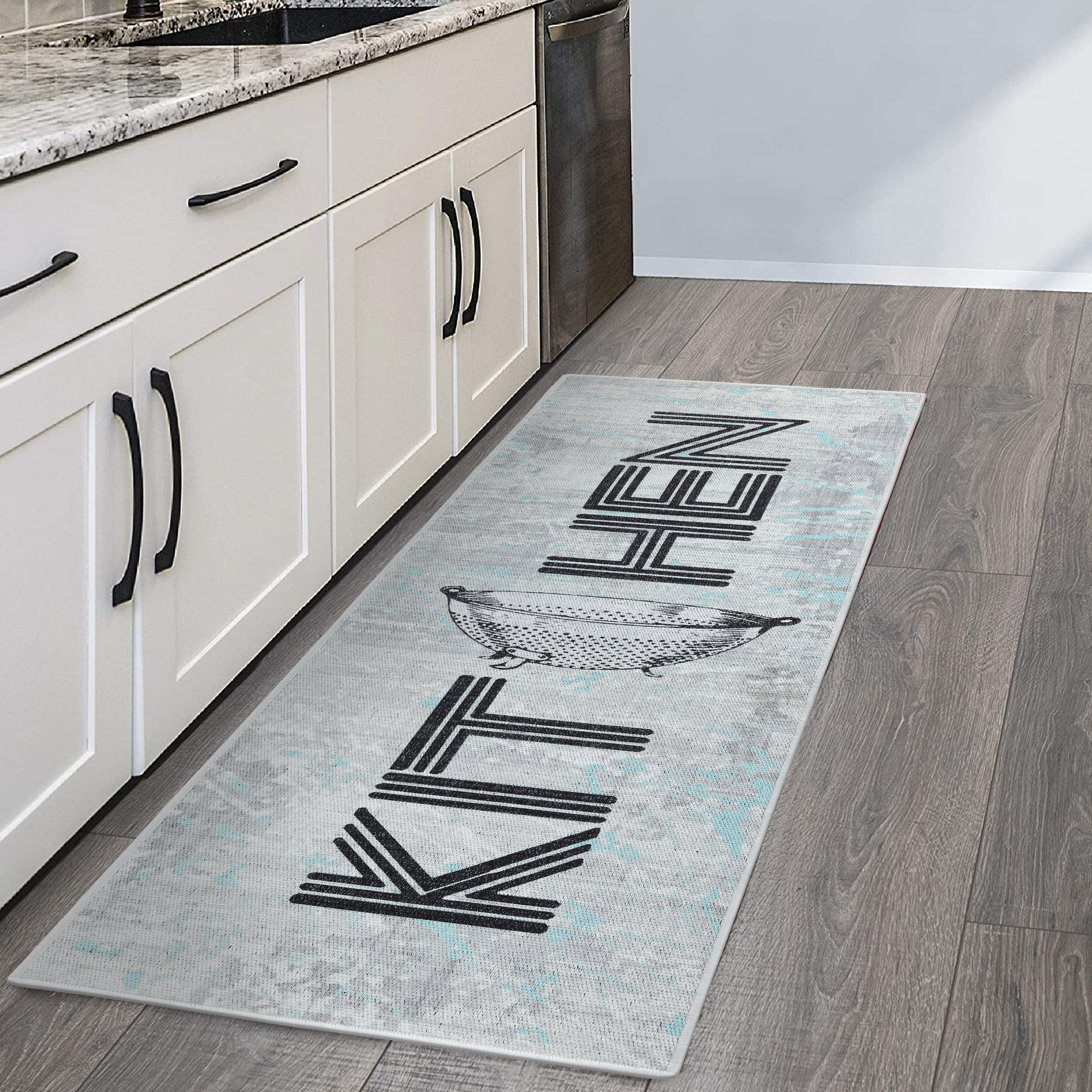 Sussexhome Non Skid Washable Kitchen Runner Rug Ultra Thin 70 Cotton Kitchen Floor Mat For In Front Of Sink 20 X 59 Inches Heavy Duty Runner Rug For Kitchen Floor Walmart Com Walmart Com