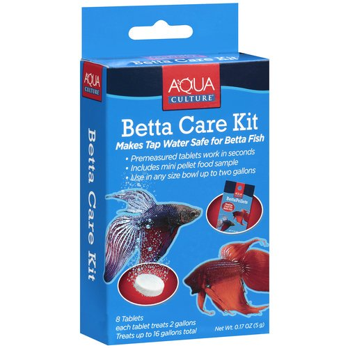 AquaCulture Betta Fish Care Kit, 9 Piece