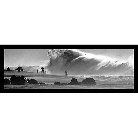Buy Art For Less 'Surfers Big Wave' Framed Photographic Print
