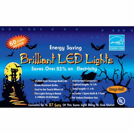 Orange LED Light Set Halloween Decoration (Amazon Halloween Lights)