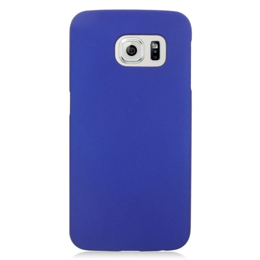 Insten Hard Rubber Cover Case For Samsung Galaxy S6 Edge - Blue - image 1 de 3