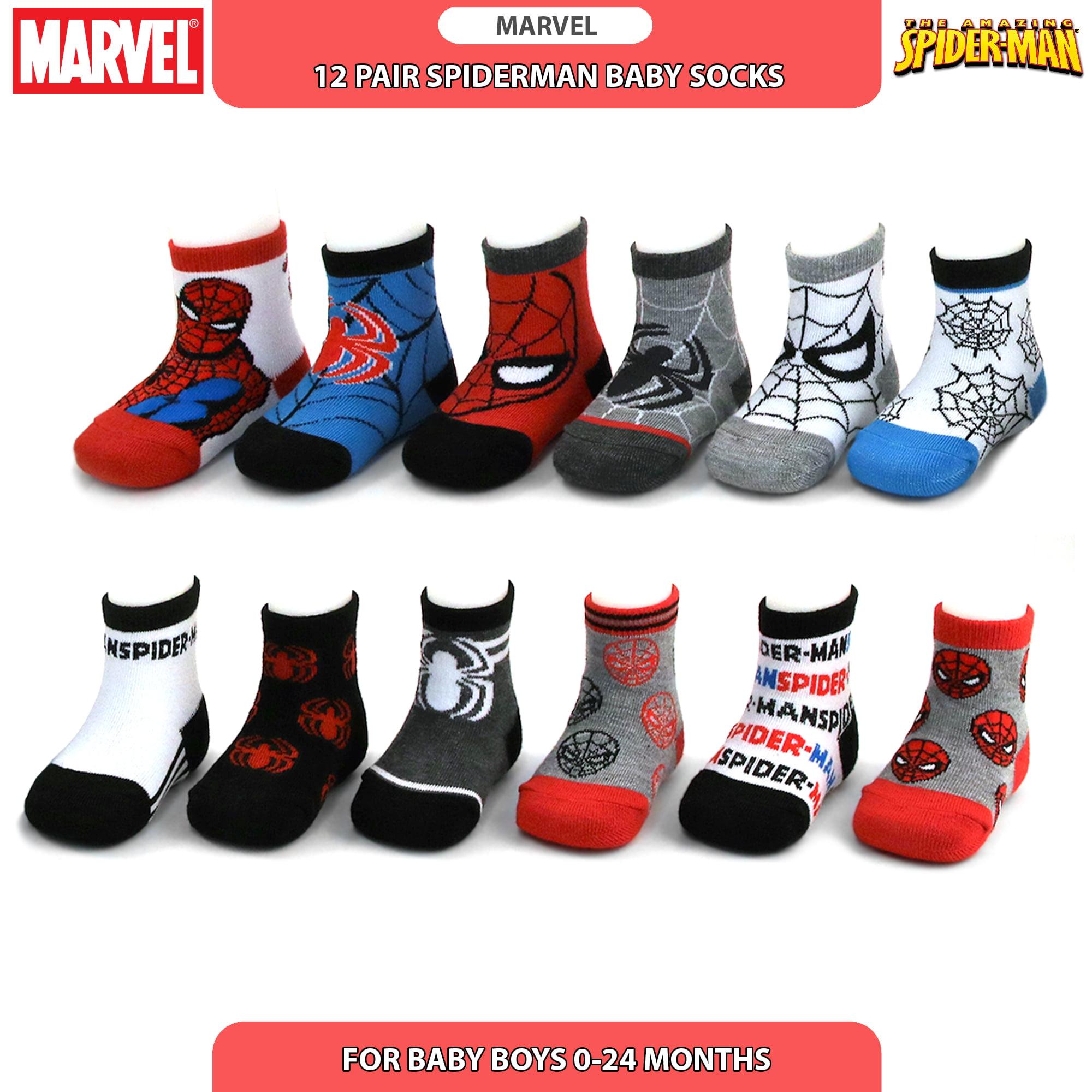 Super Hero Adventures Spider-Man Boys 6 pack Socks with Grippers SPN203