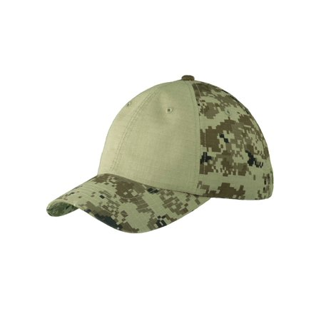 Top Headwear Colorblock Digital Ripstop Camouflage Cap - Grey Camo/Grey - image 2 of 2