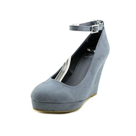 472a83725 Material Girl - Womens Vivie Fabric Closed Toe Ankle Strap Wedge Pumps -  Walmart.com