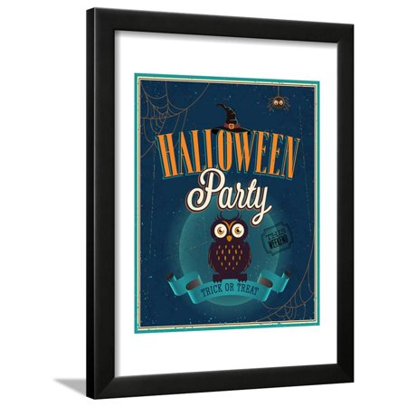 Halloween Party Poster Framed Print Wall Art By avean - Black Crowes Halloween Poster