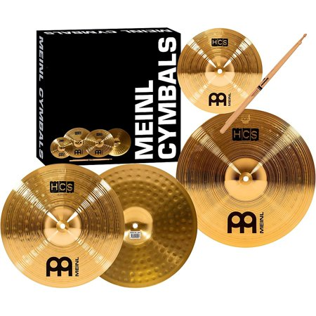 Meinl HCS Cymbal Pack with FREE Splash, Sticks, and -