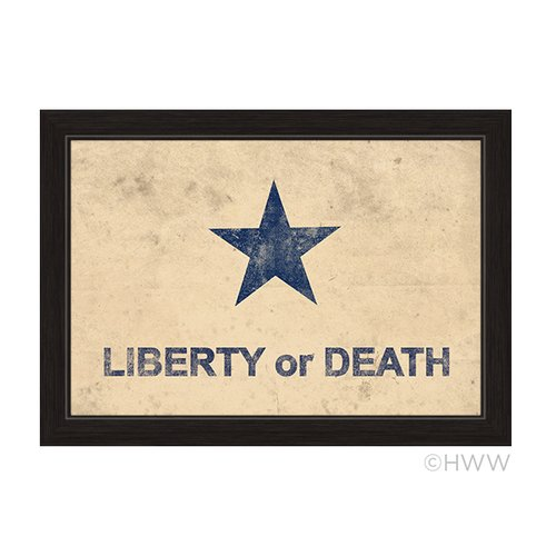 Click Wall Artwork Liberty or Death Flag Framed Graphic Art by Click Wall Art