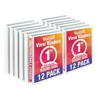 """Samsill Economy 1"""" Round Ring Binder, White, Customizable, 12 Pack"""