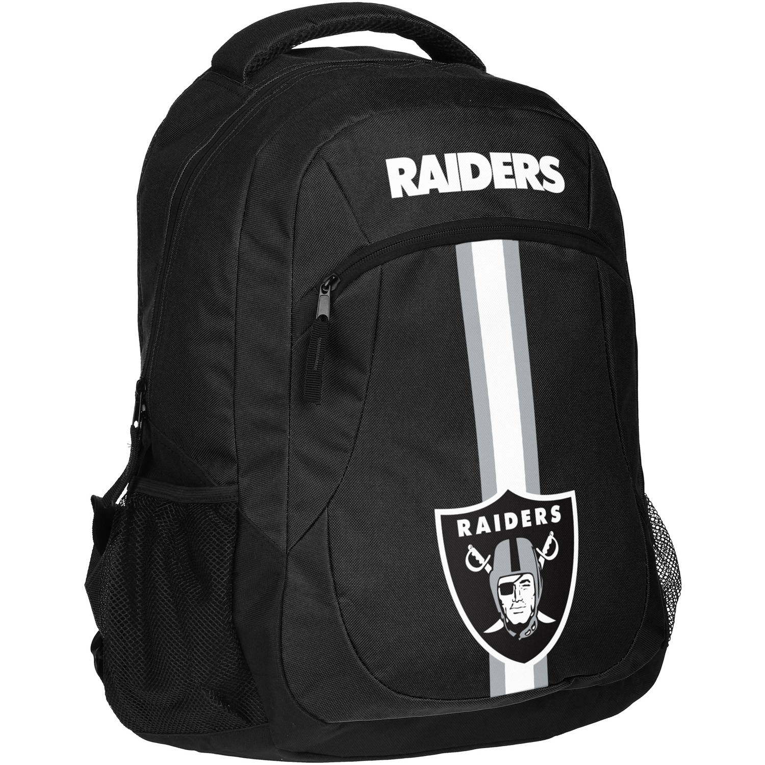 Forever Collectibles NFL Oakland Raiders Action Stripe Logo Backpack