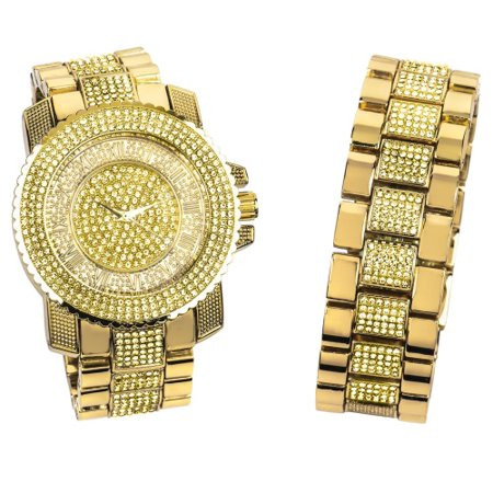Body Bling Bracelets (Canary Yellow Gold Bling Master Watch/Bracelet Set )