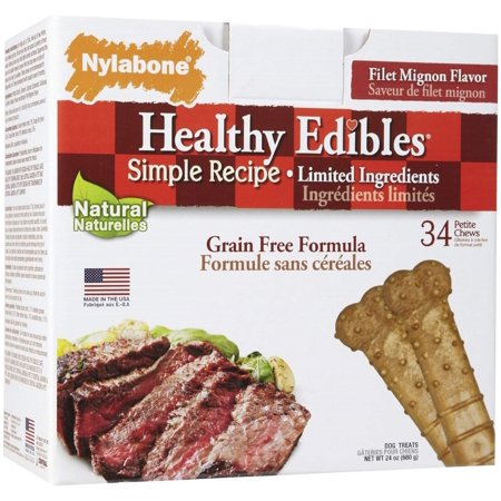 - Nylabone Edible Filet Mignon Pet, 34 Count