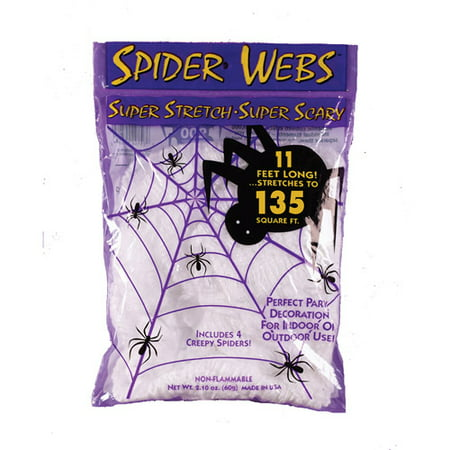 White Spider Web Adult Halloween Accessory](Halloween Games Spider Web Maze)