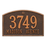Personalized Whitehall Products Cape Charles 2-Line Standard Wall Plaque in Antique Copper