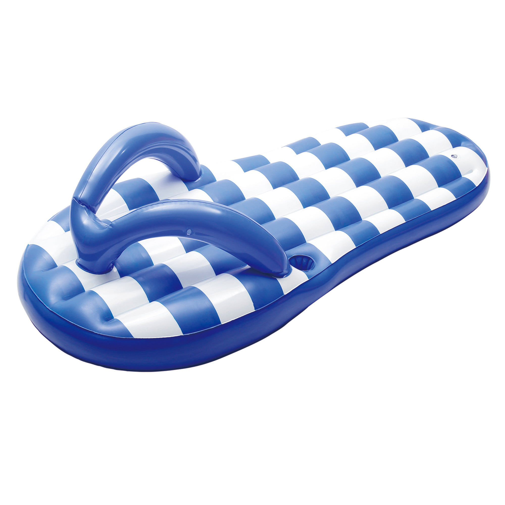 """Blue Wave Flip Flop Inflatable Pool Float w Built-In Cup Holder, 71""""L x 37""""W x... by POLYGROUP"""