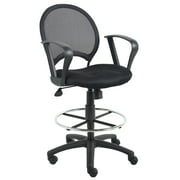 Boss Office & Home Black Drafting Chair with Loop Arms